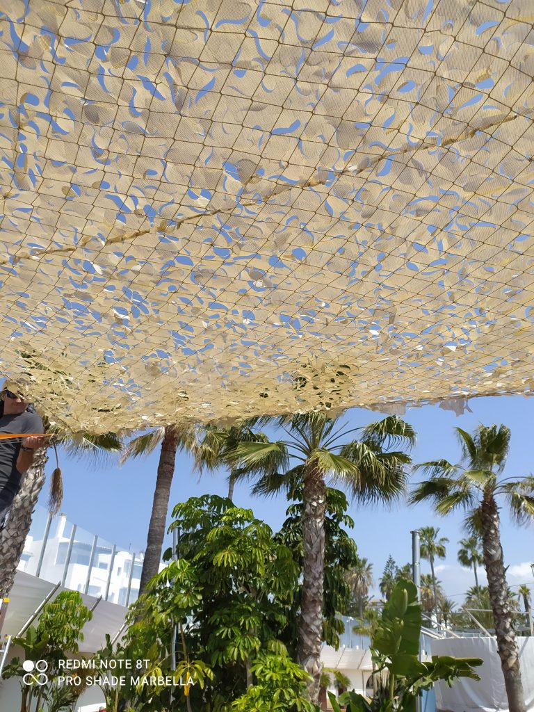 camouflage shade sails